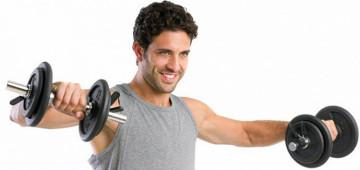 Домашние упражнения для мужчин с гантелями