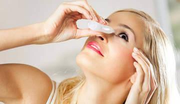 Лечение лопнувших капилляров в глазах - закапывание специальной жидкостью