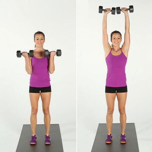 Упражнение для бицепсов и плеч