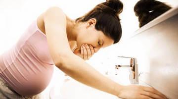 Токсикоз - одна из причин потери веса при беременности