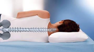 Правильное положение позвоночника во время сна