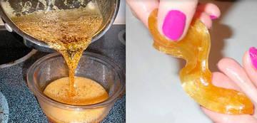 Приготовление сахарной пасты для шугаринга в домашних уловиях