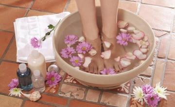 Ванночки помогают в лечении натоптышей