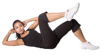 Упражнение диагональное скручивание