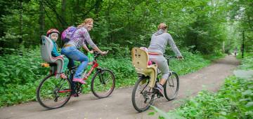 Езда на велосипеде накачивает мышцы