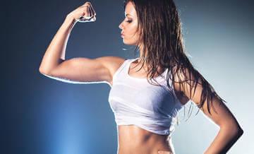 Результат применения продуктов спортивного питания - рельефные мышцы