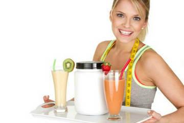 Приготовление коктейля для похудения из продукта спортивного питания