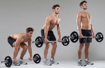 Тяга - одно из базовых упражнений для эктоморфа