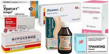Аптечные диуретики способствуют уменьшению отека ног