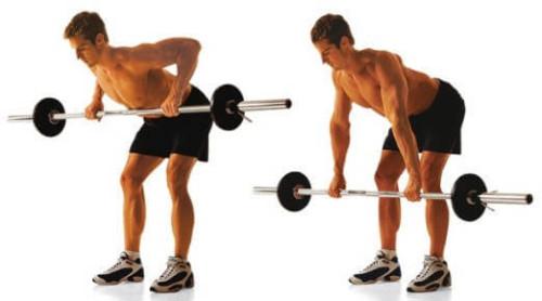 Упражнение со штангой для спины