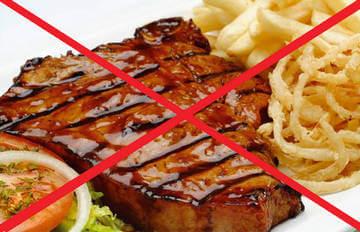 Жареные блюда категорически запрещены
