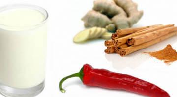 Имбирь, корица и перец - компоненты кефирного коктейля для похудения