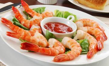 Креветки и другие морепродукты богаты цинком