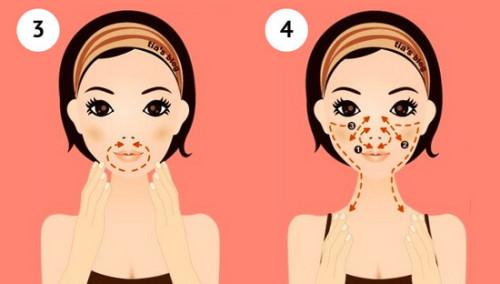 Массаж асахи для рта, подбородка, носогубных складок